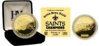 Super Bowl XLIV (44) New Orleans Saints Champions 24KT Gold Coin