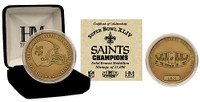 Super Bowl XLIV (44) New Orleans Saints Champions Bronze Coin