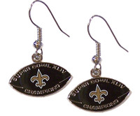 Super Bowl XLIV (44) New Orleans Saints Champs Earrings
