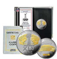 Super Bowl XLV (45) Official 2-Tone Flip Coin