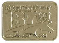 137th Kentucky Derby Two Tone Gold Logo Pin