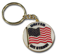 United We Stand Flag Key Chain