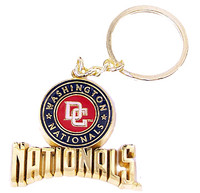 Washington Nationals Heavy Brass Key Chain