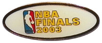 2003 NBA Finals Logo Pin
