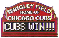 "Wrigley Field - ""Cubs Win!"" Pin"
