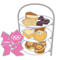 London 2012 Olympics High Tea Tray Pin
