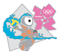 London 2012 Olympics Wenlock Water Polo Pin