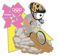 London 2012 Olympics Wenlock Mountain Bike Pin