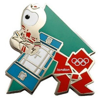 London 2012 Olympics Wenlock Trampoline Pin