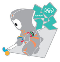 London 2012 Olympics Wenlock Field Hockey Pin
