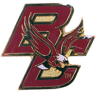 Boston College Logo Pin