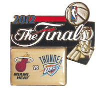 2012 NBA Finals Heat vs Thunder Dueling Pin