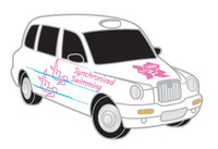 London 2012 Olympics Synchronized Swimming Taxi Pin