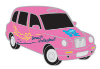 London 2012 Olympics Beach Volleyball Taxi Pin