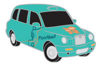 London 2012 Olympics Soccer Taxi Pin
