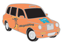 London 2012 Olympics Weightlifting Taxi Pin