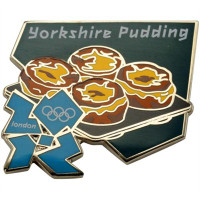 London 2012 Olympics Yorkshire Pudding Pin