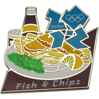 London 2012 Olympics Fish & Chips Pin