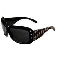 Chicago Bears Women's Designer Sunglasses w/ Rhinestones