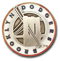 Brooklyn Dodgers Press Style Double Pin