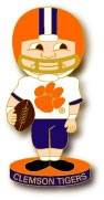 Clemson Football Bobble Head Pin