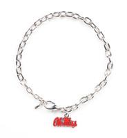 Ole Miss Logo Bracelet