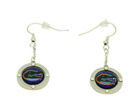 Florida Team Circle Crystal Earrings