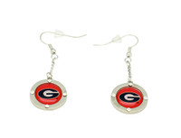 Georgia Team Circle Crystal Earrings