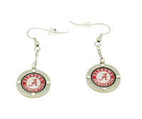 "Alabama ""A"" Logo Circle Crystal Earrings"