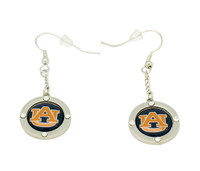 Auburn Team Circle Crystal Earrings
