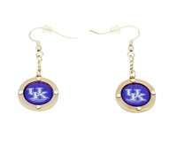 Kentucky Team Circle Crystal Earrings