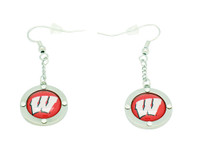 Wisconsin Crystal Dangler Earrings