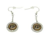 Purdue Team Circle Crystal Earrings