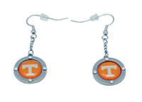 Tennessee Team Circle Crystal Earrings
