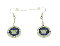 Washington Team Circle Crystal Earrings