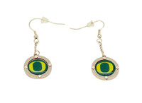 Oregon Crystal Logo Earrings