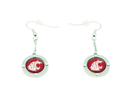 Washington State Team Circle Crystal Earrings