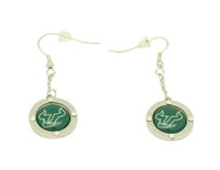 South Florida Team Circle Crystal Earrings