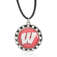 Wisconsin Crystal Circle Necklace