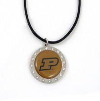 Purdue Crystal Circle Necklace (Nm)