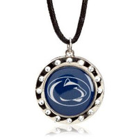 Penn State Crystal Circle Necklace