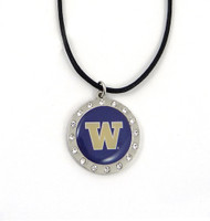 Washington Crystal Circle Necklace