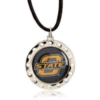 Oklahoma State Crystal Circle Necklace