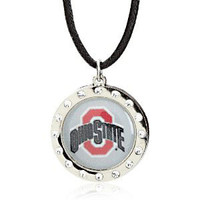 Ohio State Crystal Circle Necklace