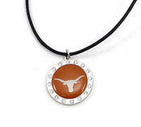 Texas Crystal Circle Necklace