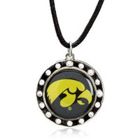 Iowa Crystal Circle Necklace