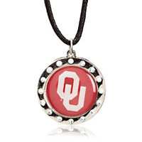 Oklahoma Crystal Circle Necklace
