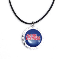Ole Miss Crystal Circle Necklace (Nm)