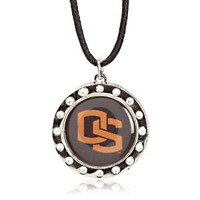 Oregon State Crystal Circle Necklace