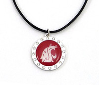 Washington State Crystal Circle Necklace (Nm)